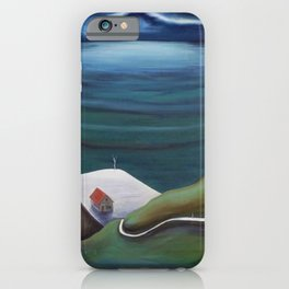 Cliff House - Hawaii landscape coastal seashore painting by Marguerite Blasingame iPhone Case