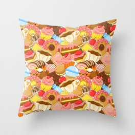 Wall of Cakes Throw Pillow