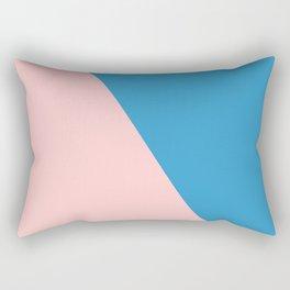 Pink and Blue Rectangular Pillow