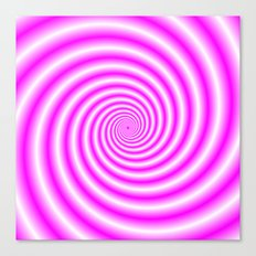 Pink and White Candy Swirl Canvas Print