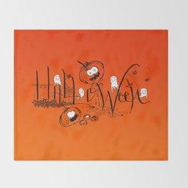 Happy and Terrific Halloween Throw Blanket
