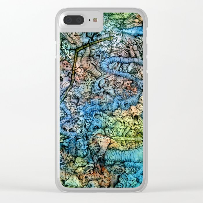 Autumn in Hell Clear iPhone Case