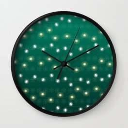 Christmas Light Green Wall Clock