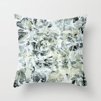mineral Throw Pillows featuring mineral by clemm