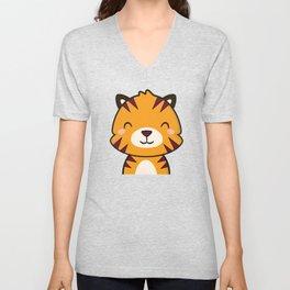 Kawaii Cute Tiger Unisex V-Neck
