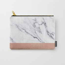 Marble Rose Gold Luxury iPhone Case and Throw Pillow Design Carry-All Pouch