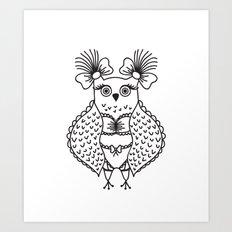 Sexy Owl Art Print