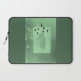 Tribal Raven: Green Laptop Sleeve