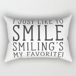 Smiling's My Favorite - Buddy The Elf, Christmas Movie Quote Rectangular Pillow