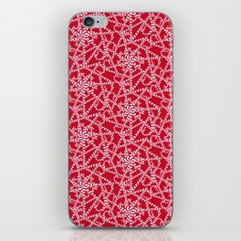 Candy cane flower pattern 2a iPhone Skin