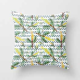 Beautiful Australian Native Grevillea Flower Print Throw Pillow