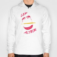 lip Hoodies featuring Lip Action by Kidney Theft