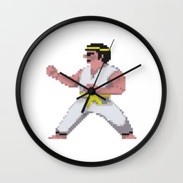 8-Bit International Karate Wall Clock