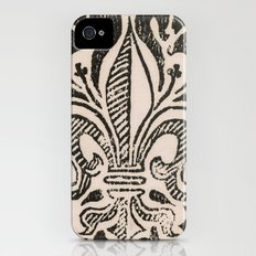 Distressed Fleur-de-Lis iPhone (4, 4s) Slim Case