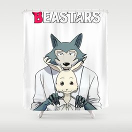 Beastars Legoshi and Haru Shower Curtain