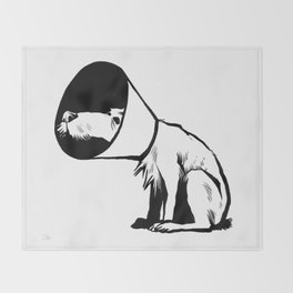Cone of shame Throw Blanket