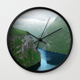 Mountains To The Sea (Geirangerfjord, Norway) Wall Clock