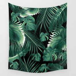 Tropical Jungle Leaves Dream #6 #tropical #decor #art #society6 Wall Tapestry
