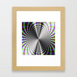 Fractal Moire Framed Art Print