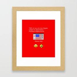 99% of Americans Framed Art Print