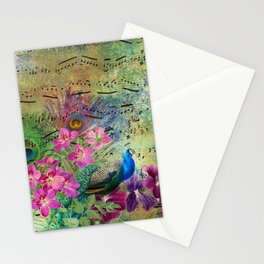 Feather Peacock 18 Stationery Cards