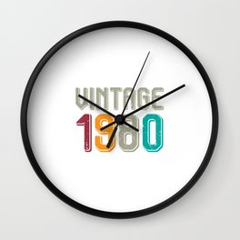 Vintage 1980 Wall Clock