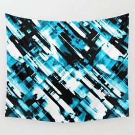 Hot blue and black digital art G253 Wall Tapestry