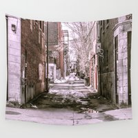 montreal Wall Tapestries featuring Montreal - Alley by Doug Dugas