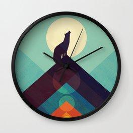 Howling Wild Wolf Wall Clock