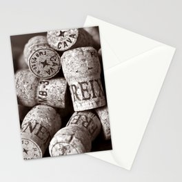 Cork of Champagne - Brown Duplex Stationery Cards