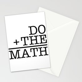 Do The Math Stationery Cards