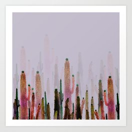 Cactus Mirage Art Print