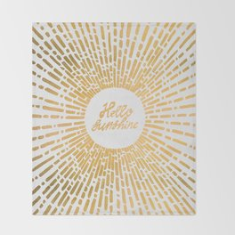 Hello Sunshine Gold Throw Blanket