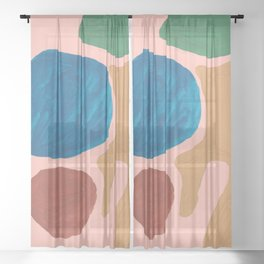 17      Imperfection   190325 Abstract Shapes Sheer Curtain
