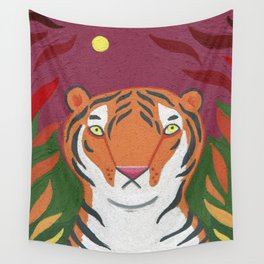 Fire Tiger Wall Tapestry
