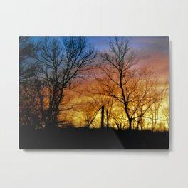 Sky Fire Metal Print