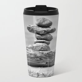 The Cairn in Black and White Travel Mug