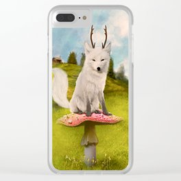 Portrait of a Deer Fox Clear iPhone Case