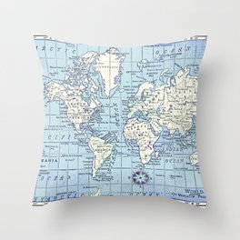 A Really Nice Map Throw Pillow