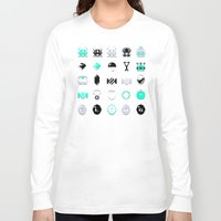 8 bit Long Sleeve T-shirts featuring 8-Bit Bling by Spires