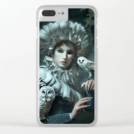 Owls Talk - dedicated to thee_owl_queen Clear iPhone Case