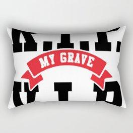 YOUR GRAVE RIP MY GRAVE VIP BASEBALL SHIRT Rectangular Pillow