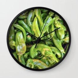 Green Chile Wall Clock
