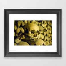 Wall of Bones Framed Art Print