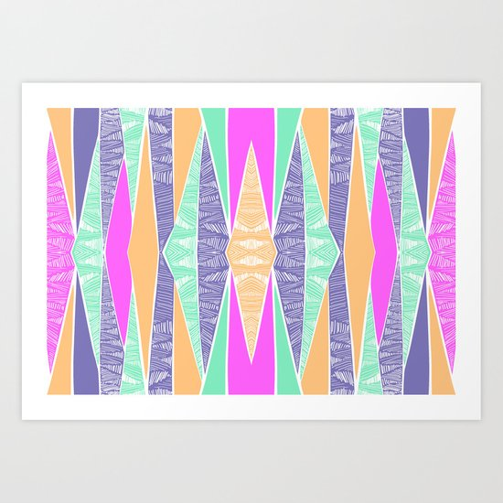 Pastel Tribal Art Print