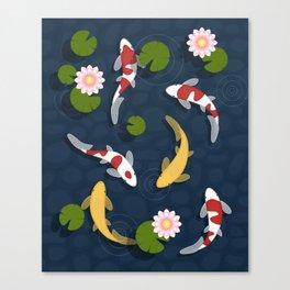 Japanese Koi Fish Pond Canvas Print