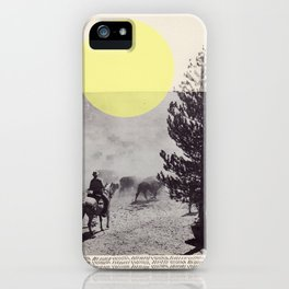 Many a trip continues long after movement in time and space have ceased.  iPhone Case