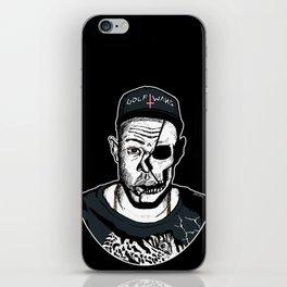Golf Wang - Tyler The Creator Skull Ink Print iPhone Skin