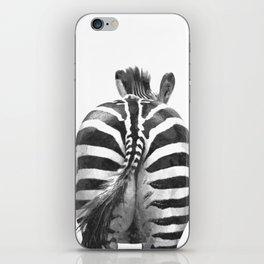 Black and White Zebra Tail iPhone Skin