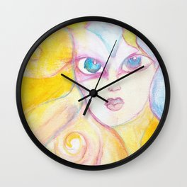 Autumn Colors Watercolor Painting Fine Art by Garden Of Delights Wall Clock
